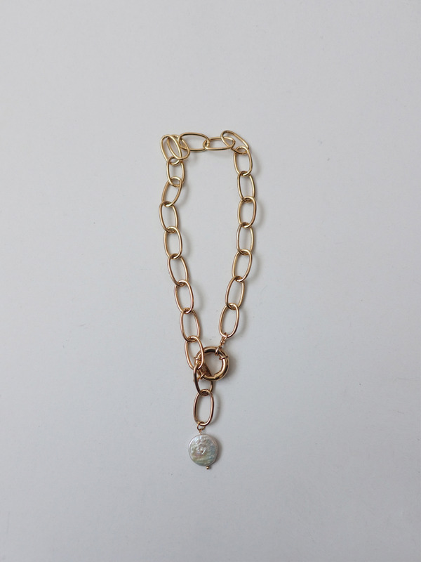 PEARL WIDE CHAIN NECKLACE