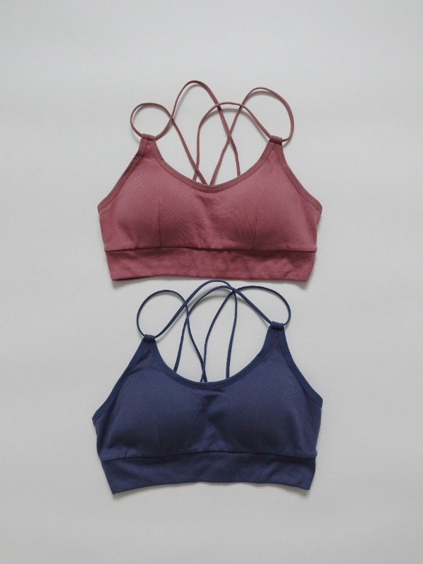 SIMPLE TWO STRAP BRALETTE (PINK, BLUE 2COLORS!)