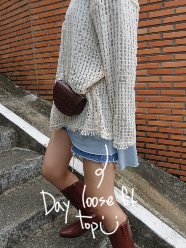 DAY LOOSE FIT TOP (IVORY, SORA 2COLORS!)