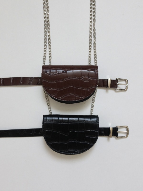 WANNY MINI CHAIN BAG WITH BELT (BROWN, BLACK 2COLORS!)