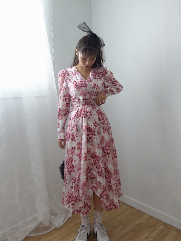 LINDA FLORAL UNBALANCE DRESS