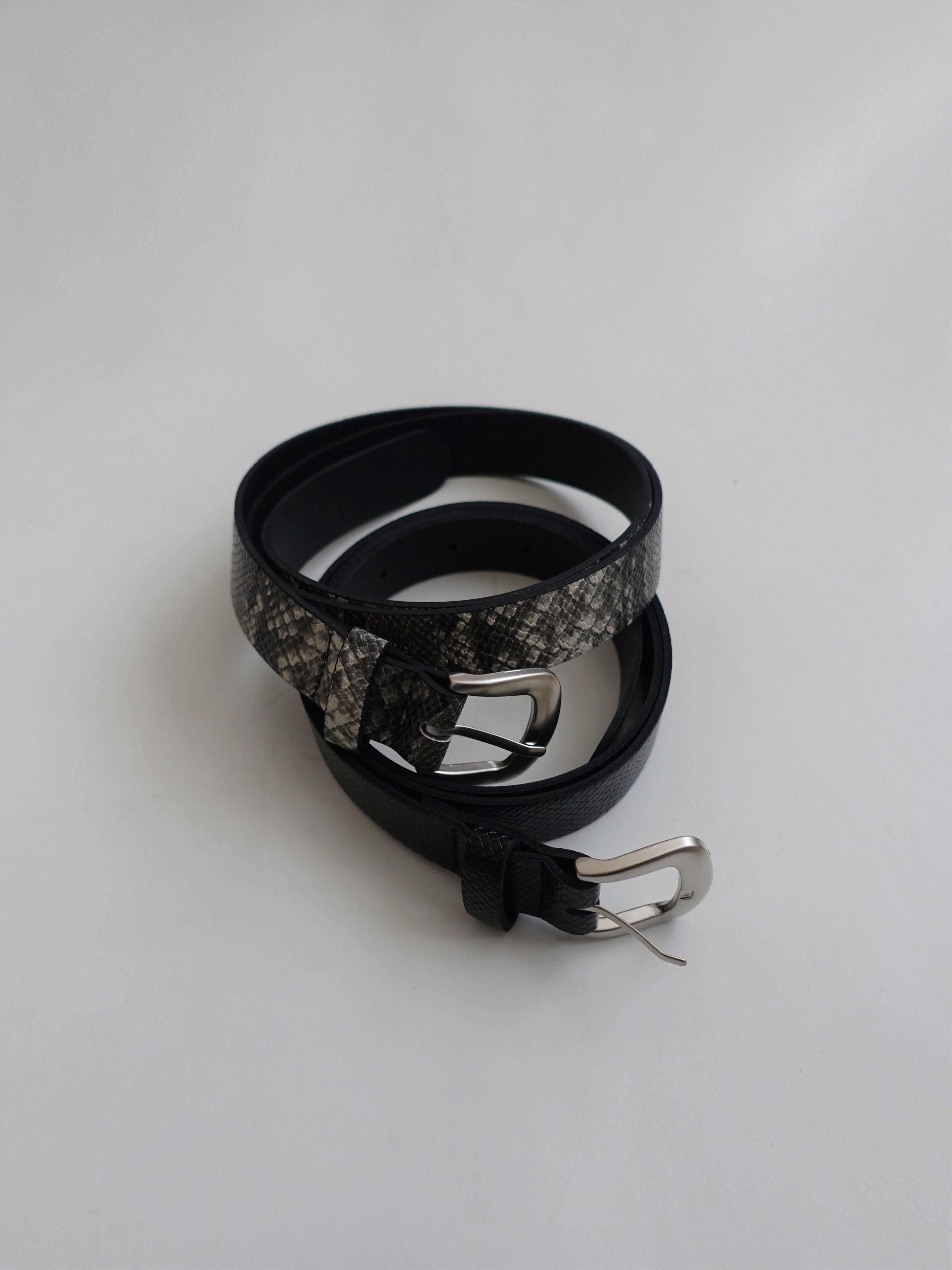 PYTHON BELT (GRAY, BLACK 2CCOLORS!)