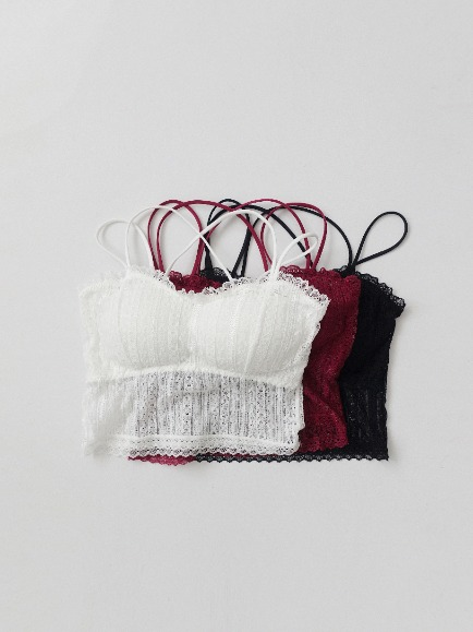 MARAIS LACE BRALETTE (WHITE, BURGUNDY, BLACK 3COLORS!)