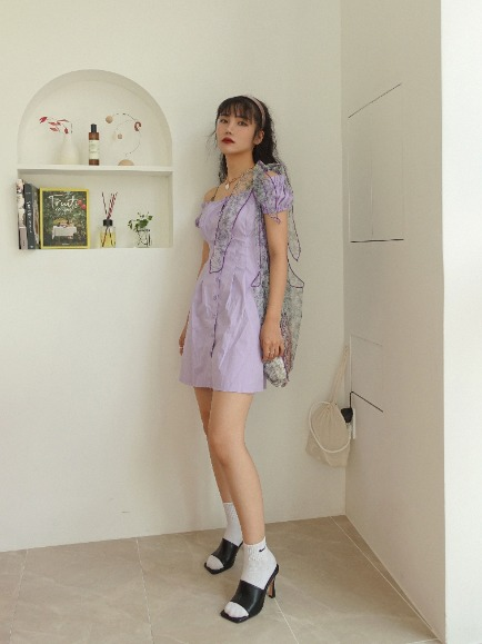 MONDAY PINTUCK MINI DRESS (WHITE, VIOLET, BLACK 3COLORS!)