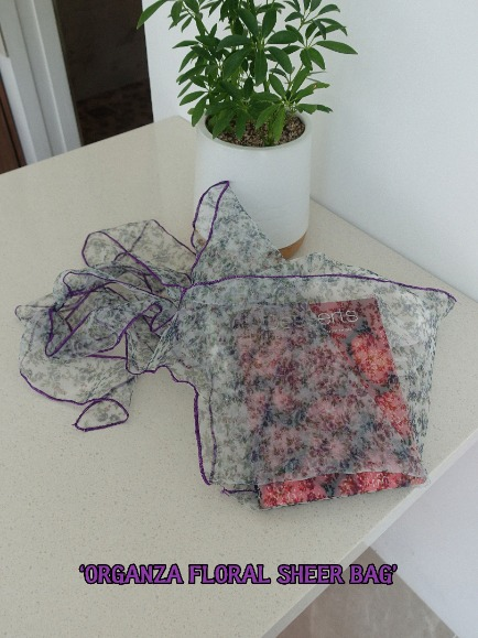 ORGANZA FLORAL SHEER BAG (RED, VIOLET, BLACK 3COLORS!)
