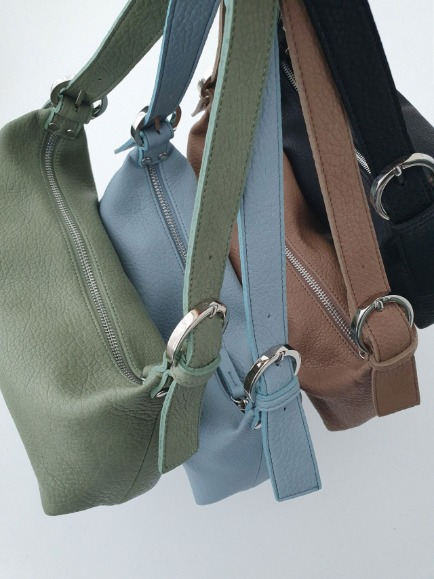 MINIMAL BUCKEL BARREL BAG (BEIGE, SORA, KHAKI, BLACK 4COLORS!)