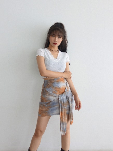 TIE-DYE BUNDLE MINI SKIRT