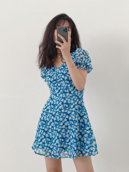 SEEYA FLORAL MINI DRESS