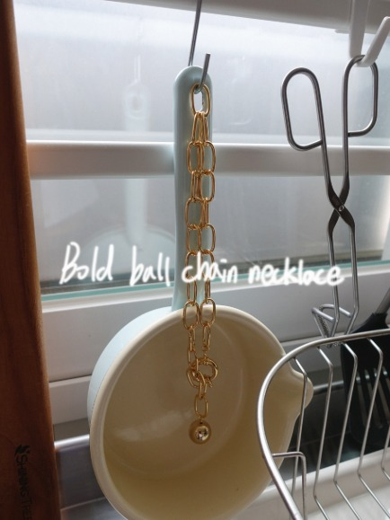 BOLD BALL CHAIN NECKLACE